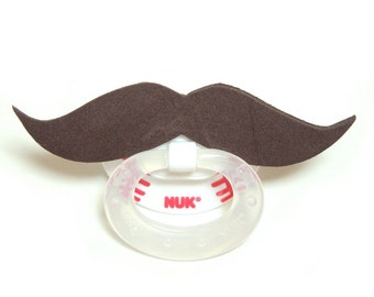 Brown Mustache baseball pacifier 6 to 18 months