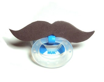 Brown Mustache soccer pacifier 6 to 18 months