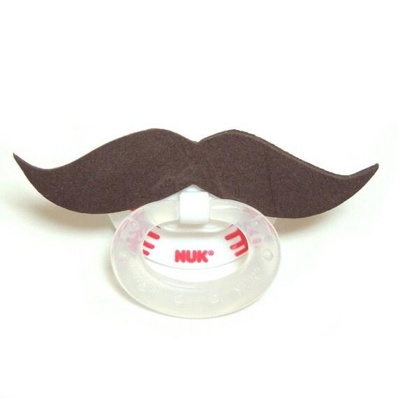 Brown Mustache baseball pacifier 6 to 18 months