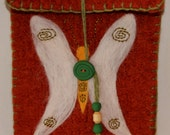 Wool Felted Pouch -  Butterfly