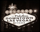 Welcome to Downtown Las Vegas, NV Sign