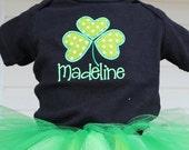 Personalized custom St. Patricks day tutu outfit set