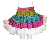 GIrl's Skirt  Sewing Pattern , Twirly Swirly Skirt  with head band (pdf pattern)