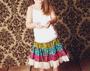 Sewing Pattern Skirt , INSTANT DOWNLOAD, Twirly Swirly Skirt with Head Band (pdf pattern)