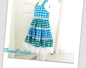 Girl's Dress Sewing Pattern, INSTANT DOWNLOAD, Tiered Dress (pdf pattern)