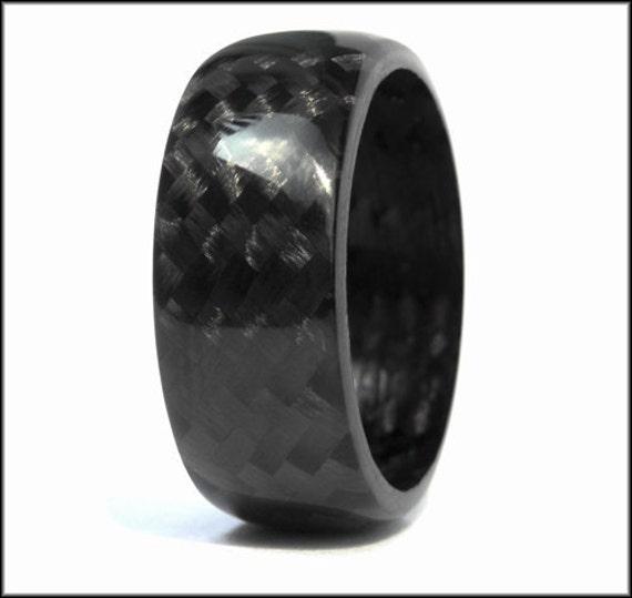 Carbon fiber ring for Kevlar wedding ring