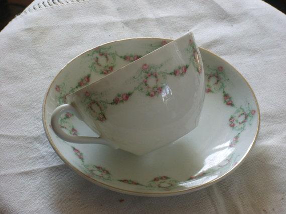 Vintage German Tea Cup and Saucer
