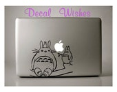 Macbook Decal Totoro and Friends Laptop Decal Removable Macbook Sticker