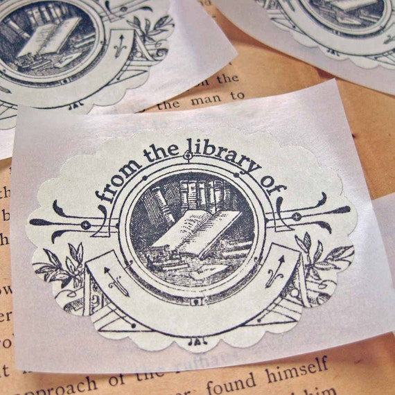 Vintage Bookplate Stickers