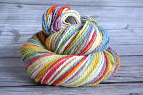 Listing reserved for tierragirl ----------------Vanilla Rainbow - Worsted Mountain Meadow - Yarn Loft