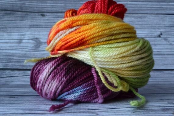 Vanilla Rainbow  - aran BFL- Yarn Loft