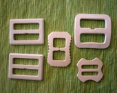 Set of 5 White Buckles