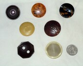Set of 7 Large Vintage Buttons