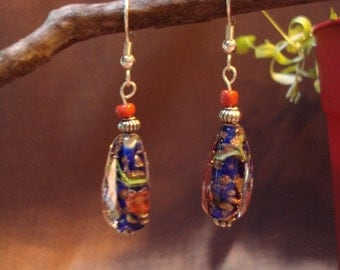 Blue Glass Dangle