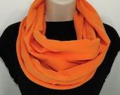 Orange Infinity Scarf, Tangerine Tango, Free Shipping