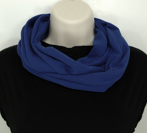 Clearance - Blue Infinity Scarf Dark Blue Circle Scarves Women Unisex