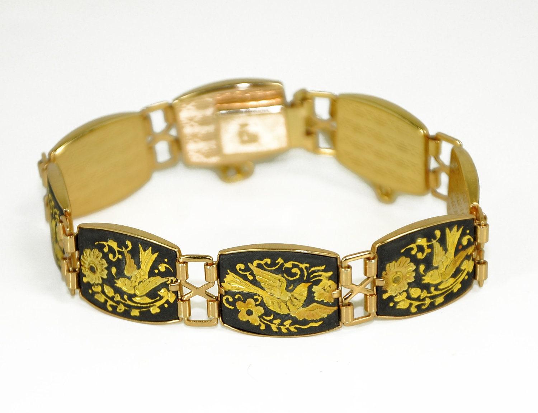 Vintage Damascene Bracelet Gold Toledo Spain by ... | 1500 x 1151 jpeg 159kB