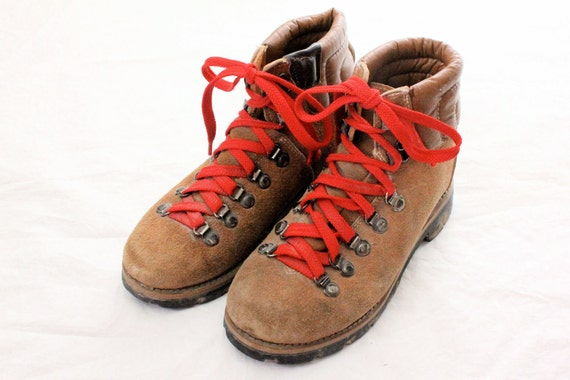 Vintage Leather Hiking Boots Sz 7