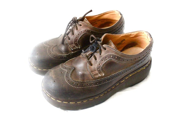 Vintage Doc Marten Chocolate Leather Saddle Loafers US Sz 5/7