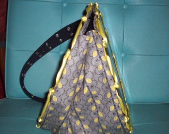 Gray with Yellow leaves Record Purse