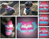 dog clothing crystalized customized puppy vest.