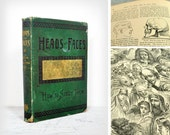 Heads And Faces How To Study Them, Antique Book 1885