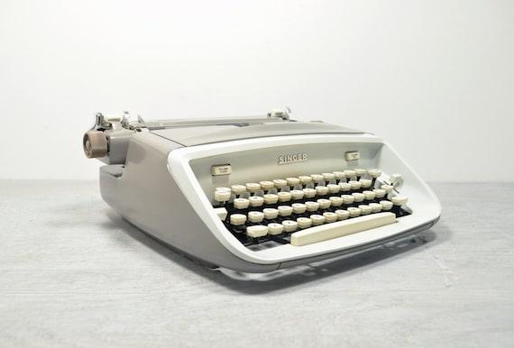 Vintage Gray and White Singer T-62 Professional Typewriter