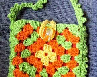Crocheted Granny Square Purse #112