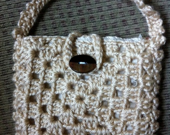 Crocheted Granny Square Purse #129