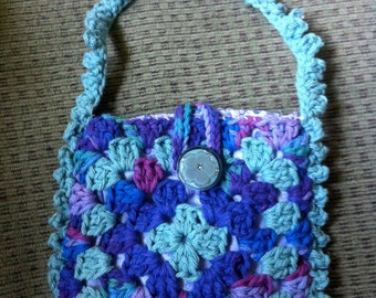 Crocheted Granny Square Purse #115