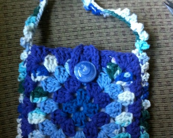 Crocheted Granny Square Purse #157