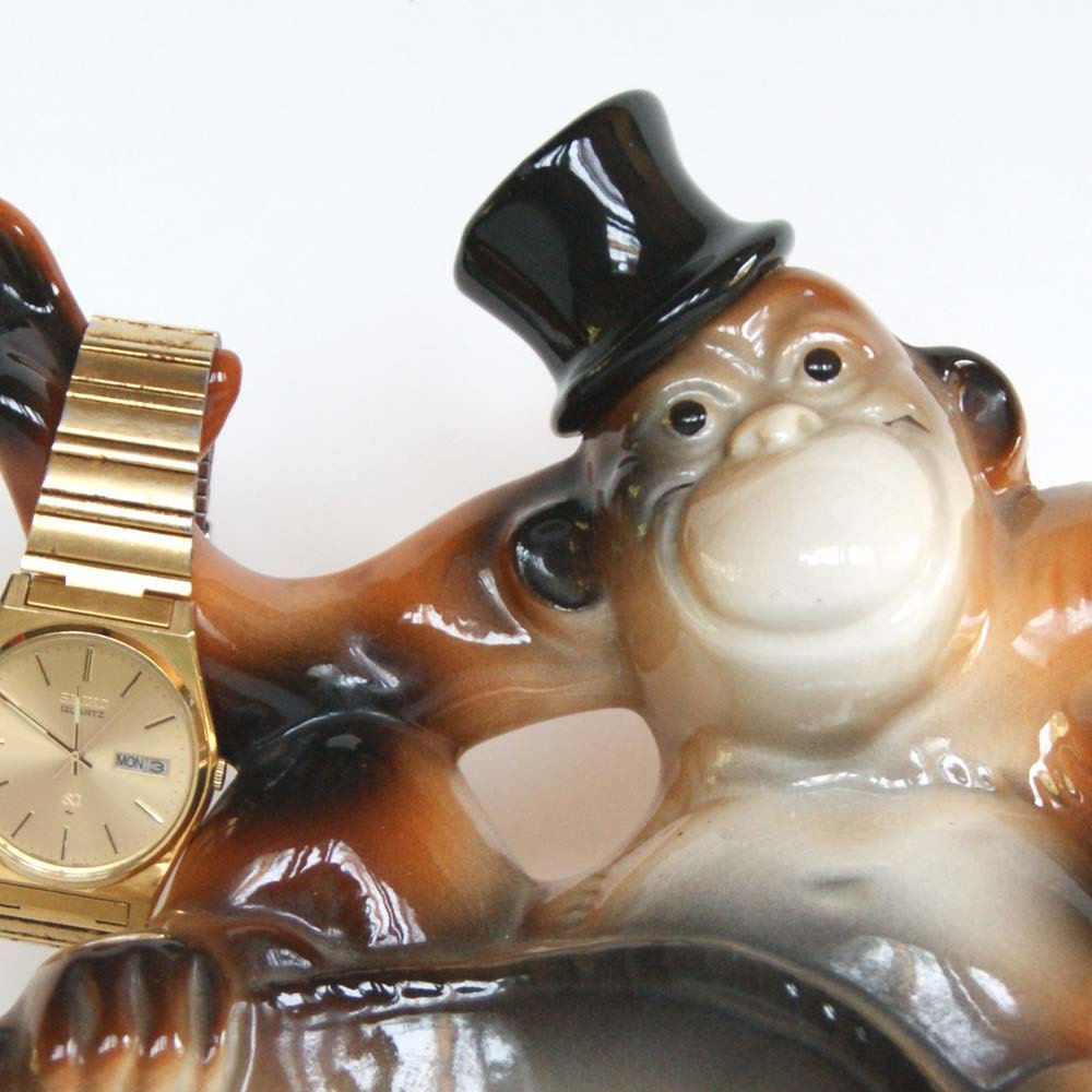 Vintage Monkey With Top Hat Caddy