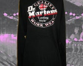 SALE Vintage Dr. Marten's London Underground Glow in the Dark Hoodie Dress