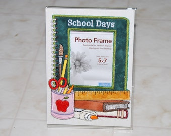 Acrylic Photo Frame with Added Embroidery