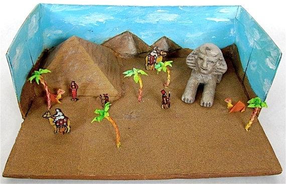 Ancient Egypt Shoebox Diorama Child S Naive Art By Lion2833