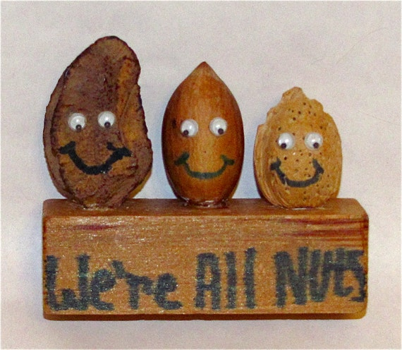 "Decorative Miniature Nutty Sculpture:  (2-3/4"" Tall  X  3-1/8"" Wide  X  1"" Deep)--Comical and Cute"