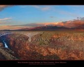 12x28 poster of the Rio Grande Gorge Bridge in Taos County, New Mexico. Southwestern, southwest landscape photography, photo