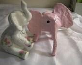 Children's Pastel Pink Elephant Toy OOAK Valentine Present Gift
