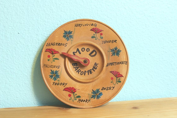 vintage Scandinavian style mood meter / barometer