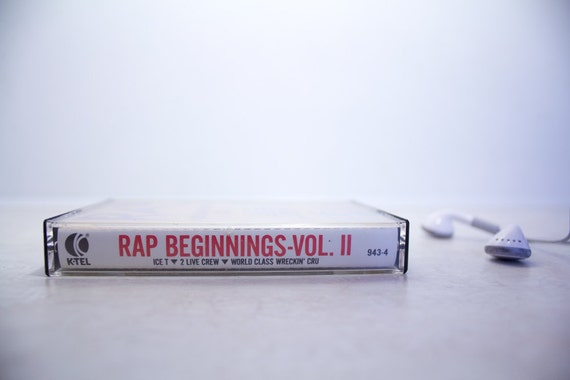 Rap Beginnings Vol. 2 Vintage Music Cassette Tape . with Ice T