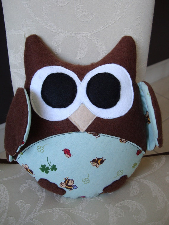 Large Country Brown Owl Plush