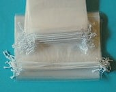 Clear Drawstring Bags 9x12 inches - 50 Count - Cello Bags, Poly Bags - party bags, wedding favors, product packaging and supplies