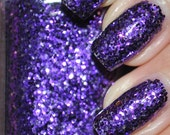 Pony Purple Glitter Nail Polish 15ml (.5oz)