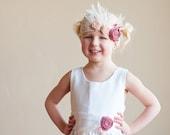 The Alice Dress - ivory satin flower girl dress, 1920s flower girl dress, white satin flower girl dress, gatsby flower girl dress