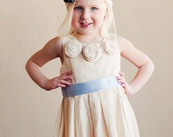 The Edwardian: Flower girl dress for wedding  in cotton, silk or satin. Bridesmaid dress. flower girl dresses.