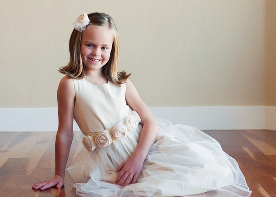 Lambstail: Flower Girl Dress in Cotton, Satin or Silk