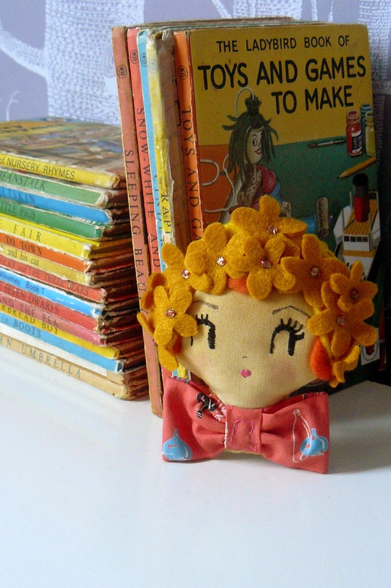 Little Clown Brooch. Wearable Art or Decorative Piece. One-of-a-kind.