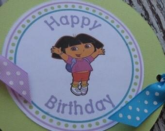 Dora The Explorer Banner-Dora the Explorer Birthday Banner-Dora the Explorer Decorations-Dora Birthday Decorations-Dora Decorations