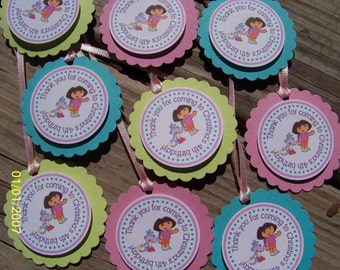 Dora the Explorer Favor Tags-Dora the Explorer Thank You Tags-Dora The Explorer Tags-Dora Thank You Tags-Dora Party Decoration