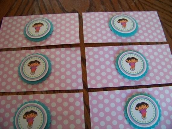 Dora the Explorer Napkin Rings-Dora the Explorer Birthday Decoration-Dora Party Decoration-Dora Silverware Wrap-Napkin Rings-Silverware Wrap